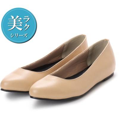 ジーラ GeeRA 【美ラク】快適フラットシューズ (ベージュスムース)