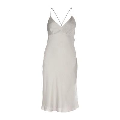 RALPH LAUREN BLACK LABEL 7分丈ワンピース・ドレス グレー 8 シルク 100% 7分丈ワンピース・ドレス