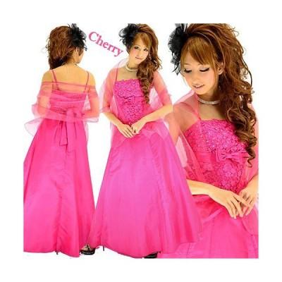刺繍リボン姫ロングドレス