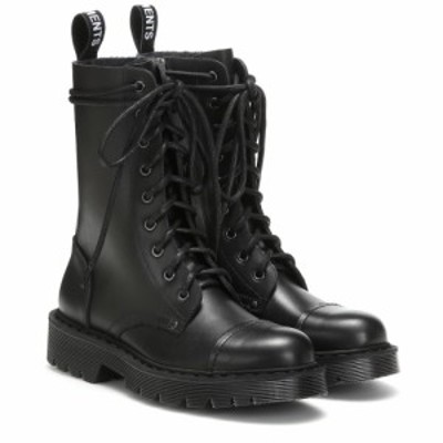ヴェトモン Vetements レディース ブーツ シューズ・靴 Leather ankle boots Black
