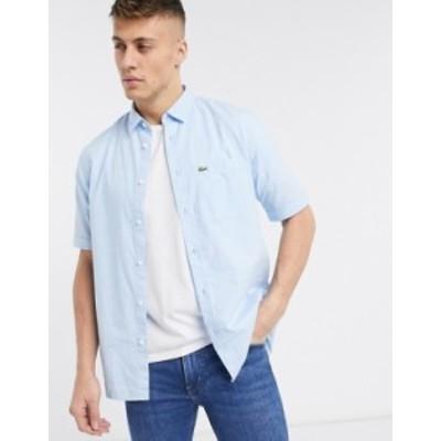 ラコステ メンズ シャツ トップス Lacoste short sleeve shirt Blue