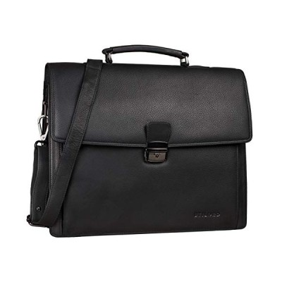 STILORD 'Noel' Briefcase Leather Men Vintage Classic Working Bag for Business Office Shoulder Bag Laptop Bag 13,3 inches with Trolley Sleeve, Colour:B