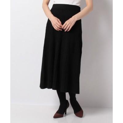 【ルゥデ】ニットプリーツ切替スカート(0R10−CK193)