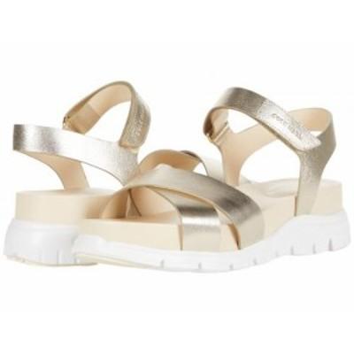 Cole Haan コールハーン レディース 女性用 シューズ 靴 ヒール Zerogrand Crisscross Sandal Soft Gold Metallic Leather【送料無料】