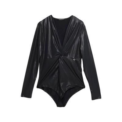 MANGANO T シャツ ブラック L ポリエステル 95% / ポリウレタン 5% T シャツ