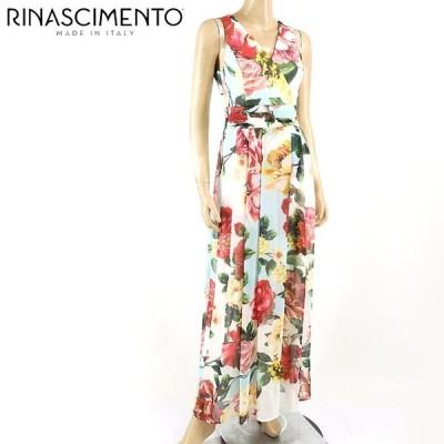 リナシメント(RINASCIMENTO)レディース ドレス マルチカラー系  花柄 ノースリーブ イタリア製 (サイズ/XS/S)*rc0631