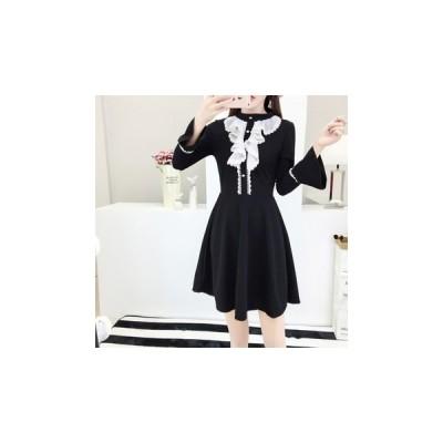 ドレス 長袖 ミニ  エレガント 可愛い 大人 結婚式 二次会 fe-0909
