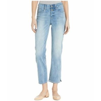 エヌワイディージェイ レディース デニムパンツ ボトムス Marilyn Straight Ankle Jeans with Side Slits in Biscayne Biscayne