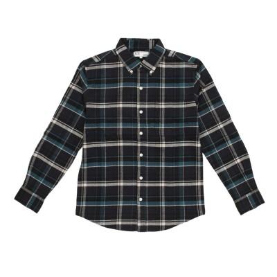 ACPGウェアネルシャツ 871PA0CG7060GNxNV グリーン×ネイビー