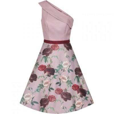 チチ Chi Chi レディース ワンピース ミドル丈 ワンピース・ドレス Printed Midi Dress MINK
