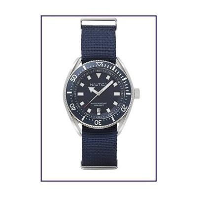 Nautica Men's Portofino Stainless Steel Japanese-Quartz Watch with Silicone Strap, Blue, 22 (Model: NAPPRF001)【並行輸入品】