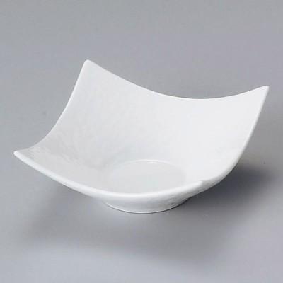陶雅 白磁石目型角小鉢(小)