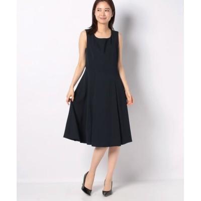 MISS J/ミス ジェイ ドビークロス ドレス ネイビー 38