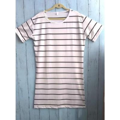 Tシャツ レディース ボーダー 薄手 半袖 薄い 大きいサイズ 女の子