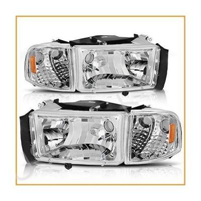 AUTOSAVER88 ヘッドライトアセンブリ 1994-2001 ダッジ・ラム 1500/1994-2002 ダッジ・ラム ピックアップ 2500 3500