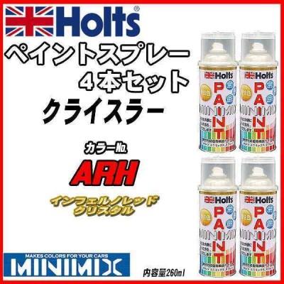 ペイントスプレー 4本セット クライスラー ARH インフェルノレッドクリスタル Holts MINIMIX