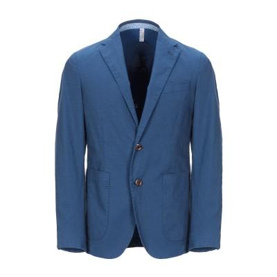 FLOWERS LONDON テーラードジャケット ブルー 46 コットン 68% / ポリエステル 29% / ポリウレタン 3% テーラードジャ