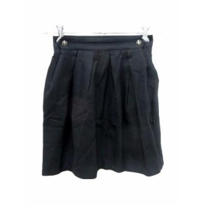 【中古】マカフィー MACPHEE トゥモローランド スカート フレア ミニ ウール 34 黒 ブラック /YK レディース