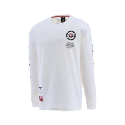 arena (アリーナ) ASS0021UX トレーニングシャツ/長袖/トレーニングウェア/メンズ/ホワイト/MサイズLサイズ/メール便(220円)対応