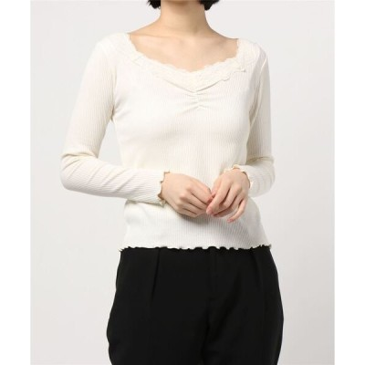 tシャツ Tシャツ 胸ギャザープルオーバー
