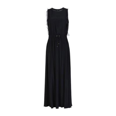 レ コパン LES COPAINS ロングワンピース&ドレス ブラック 42 アセテート 69% / シルク 31% ロングワンピース&ドレス