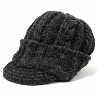 BIGWATCH正規品 大きいサイズ 帽子 メンズ ツバ付きウール ニットワッチ  ビッグワッチ ブラックL XL  春夏秋冬 防寒 WLT-10