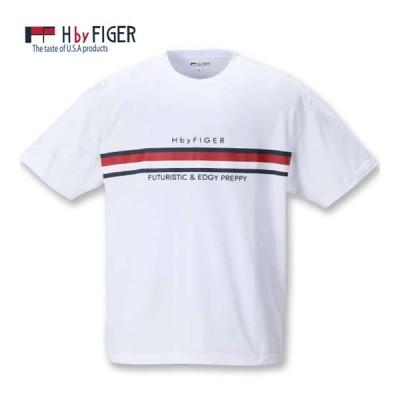大きいサイズ メンズ H by FIGER 半袖Tシャツ 3L 4L 5L 6L 8L