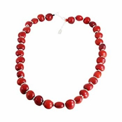 """Peruvian Gift Adjustable Necklace for Women 18"""" - 20"""" - Symbol of Good Luck Huayruro Red Black Seeds Strand by Evelyn Brooks (N0"""