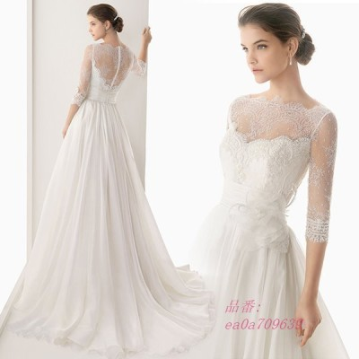 ウェディングドレス aラインドレス 安い ウエディングドレス 二次会 花嫁 ロングドレス 白 演奏会 結婚式 披露宴 ブライダル パーティードレス シンプルドレス
