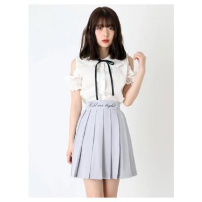 Ank Rouge(アンク ルージュ)ロゴプリーツスカート