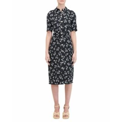 ケイトスペード レディース ワンピース トップス dandelion floral shirtdress BLACK PATTERN