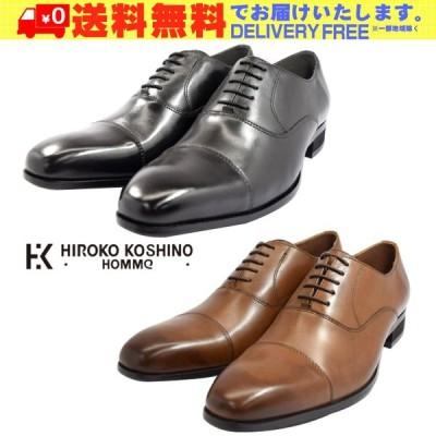 HIROKO KOSHINO HOMME コシノ ヒロコ オム HK119 ストレートチップ ロングノーズ ビジネスシューズ 紳士靴 メンズ (nesh)(新品)(送料無料)