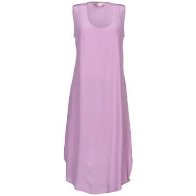 テーラ TELA 7分丈ワンピース・ドレス ライトパープル S シルク 100% 7分丈ワンピース・ドレス