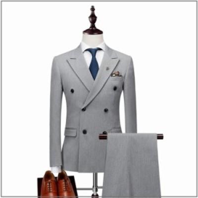 送料無料ビジネススーツ メンズ 通勤 スーツ セットアップ 3点セット 二つボタン スリーピーススーツ 細身 紳士服 フォマール 就職 結婚