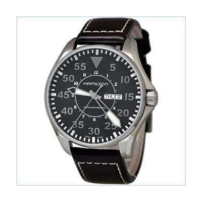 Hamilton Khaki Pilot Black Dial Leather Strap Men's Watch H64715535並行輸入品