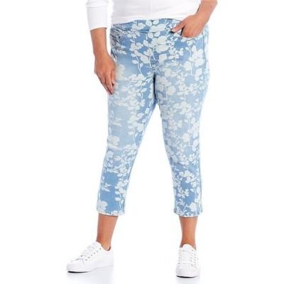 ウエストバウンド レディース カジュアルパンツ ボトムス Plus Size the HIGH RISE fit Vintage Floral Crop Pants