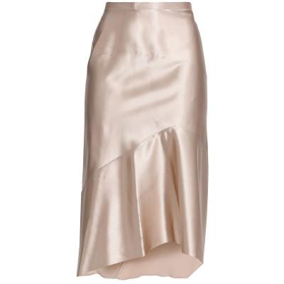 ナルシソ ロドリゲス NARCISO RODRIGUEZ 7分丈スカート ベージュ 42 シルク 100% 7分丈スカート