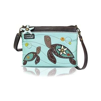 Chala Mini Crossbody Handbag, Multi Zipper, Pu Leather, Small Shoulder Purs