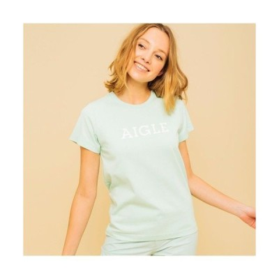 AIGLE / エーグル 吸水速乾 エーグル グラフィック ロゴTシャツ