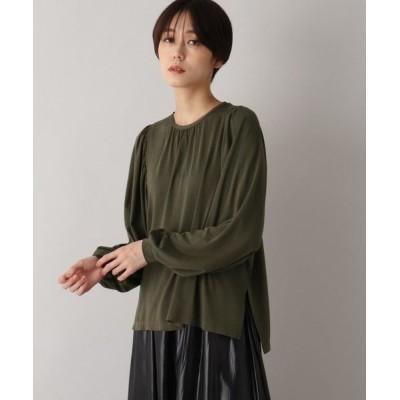 aquagirl/アクアガール 【洗える】袖コンシャスプルオーバー カーキ(027) 38(M)