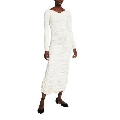 カイト レディース ワンピース トップス Lana Ruched Long-Sleeve Dress