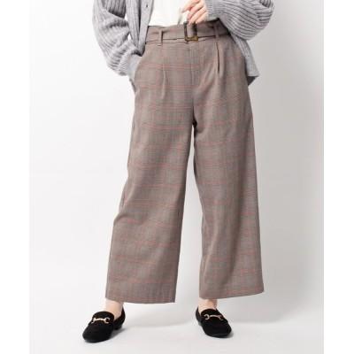 THE SHOP TK / 【XL/WEB限定サイズ/マシンウォッシャブル/裏起毛】TRストレッチバックル付きワイドパンツ WOMEN パンツ > パンツ