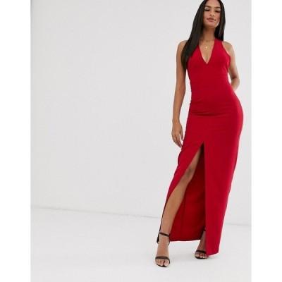 ベスパー レディース ワンピース トップス Vesper bow back maxi dress Red