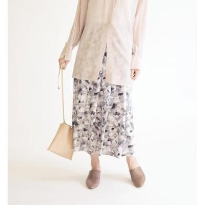 【シップス/SHIPS】 ジオメトリックプリントスカート◇