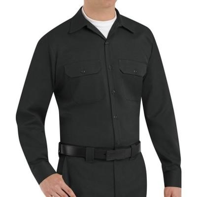 レッドキャップ シャツ トップス メンズ Red Kap Men's Utility Uniform Long Sleeve Shirt Black