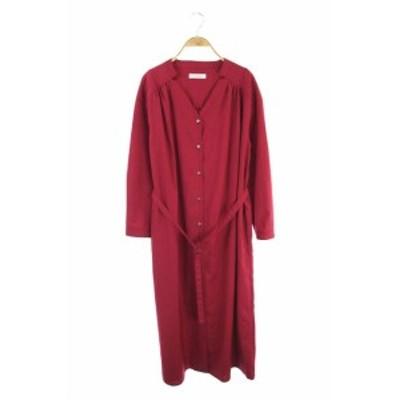 【中古】クリアインプレッション CLEAR IMPRESSION 19AW ワンピース シャツ 15 赤 /KN ■OS レディース