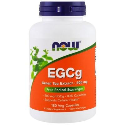 ナウフーズ EGCg(エピガロカテキンガレート)グリーンティーエキス 400mg 180錠 NOW FOODS EGCg Green Tea Extract 400 mg 180 Vcaps