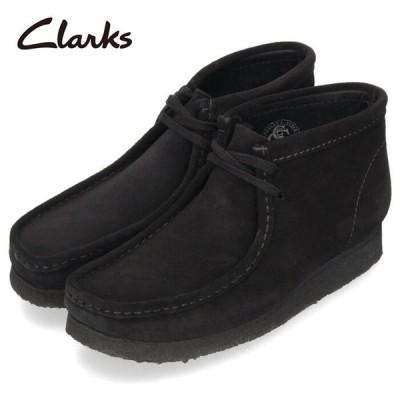 クラークス ワラビー ブーツ メンズ Clarks Wallabee Boot 980E ブラック スエード 黒 本革 セール
