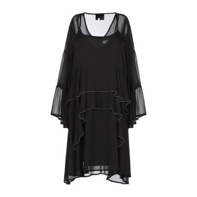 HOTEL PARTICULIER ミニワンピース&ドレス ブラック 38 ポリエステル 100% ミニワンピース&ドレス