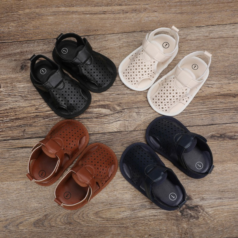 夏季男女寶寶時尚涼鞋 嬰幼兒防滑學步鞋 包頭室內軟底嬰兒不掉鞋【IU貝嬰屋】